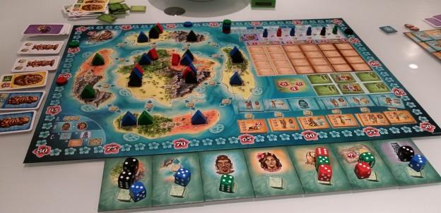 Plateau central du jeu Bora Bora