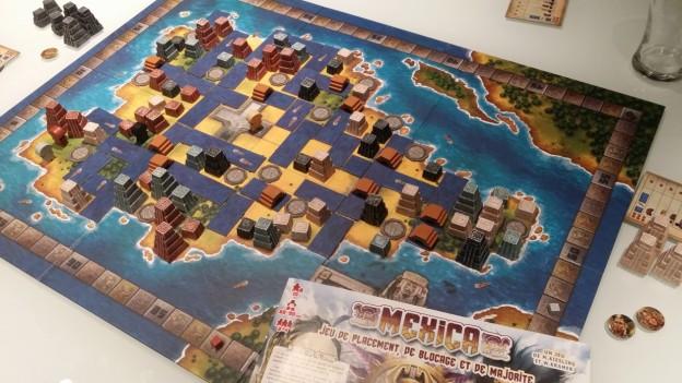 Vue d'ensemble du plan du jeu Mexica